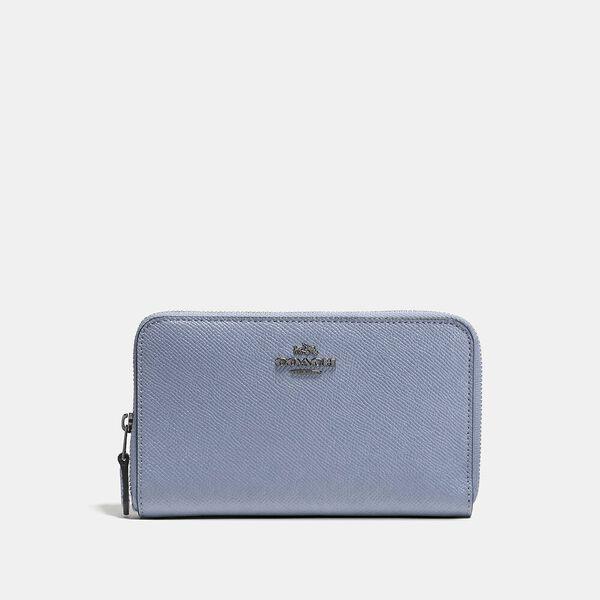 Medium Zip Around Wallet, V5/Bluebell, hi-res