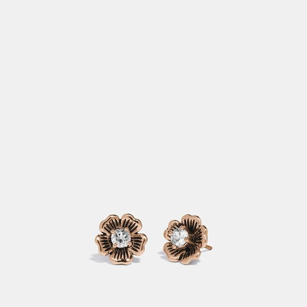 Mini Tea Rose 2 In 1 Stud, ROSE GOLD, hi-res