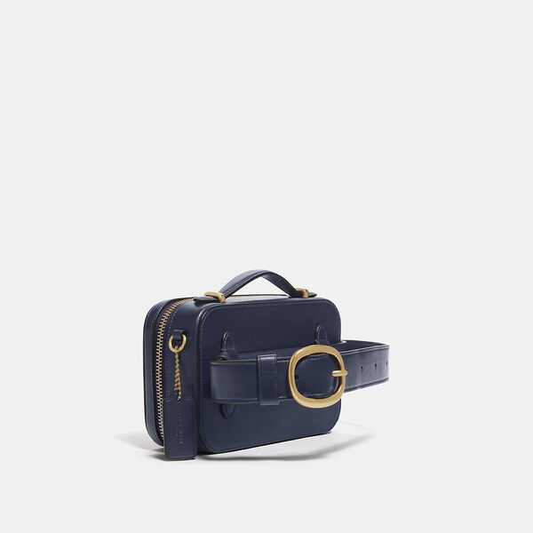 Alie Belt Bag In Signature Jacquard, B4/NAVY MIDNIGHT NAVY, hi-res