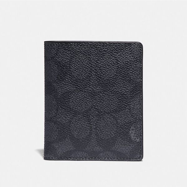Slim Wallet With Signature Canvas Blocking