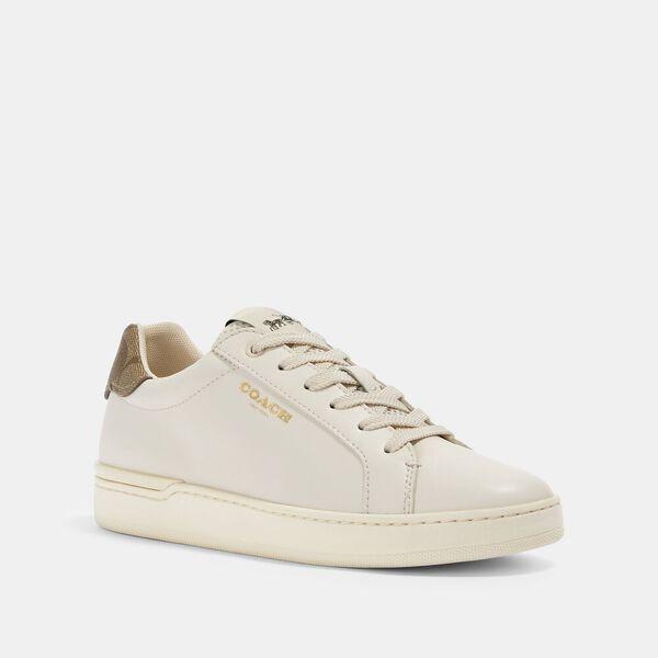 Clip Low Top Sneaker, CHALK/KHAKI, hi-res