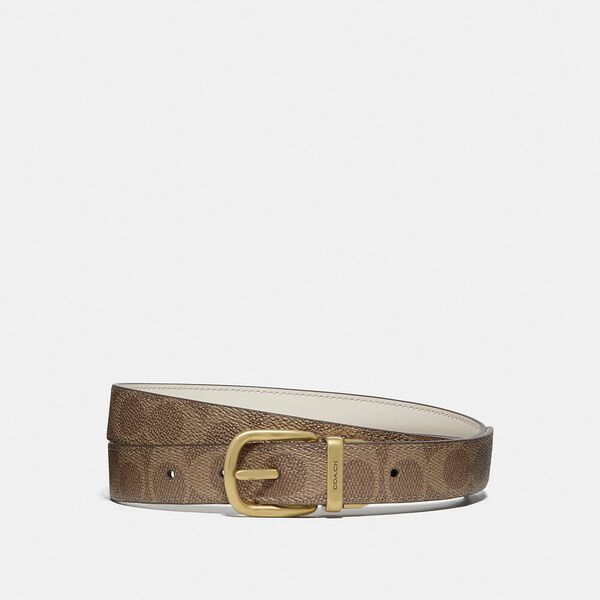 Classic Reversible Belt In Signature Canvas, B4/CHALK TAN, hi-res