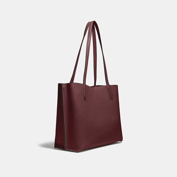 Willow Tote In Colorblock, B4/BLACK CHERRY MULTI, hi-res