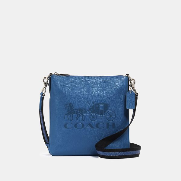 Jes Slim Crossbody With Horse And Carriage, SV/BLUE JAY, hi-res