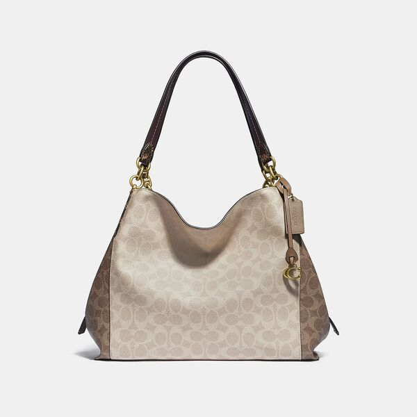 Dalton 31 In Blocked Signature Canvas With Snakeskin Detail, B4/TAN SAND, hi-res