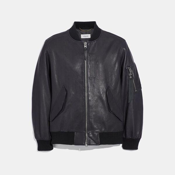 Leather Ma-1 Jacket