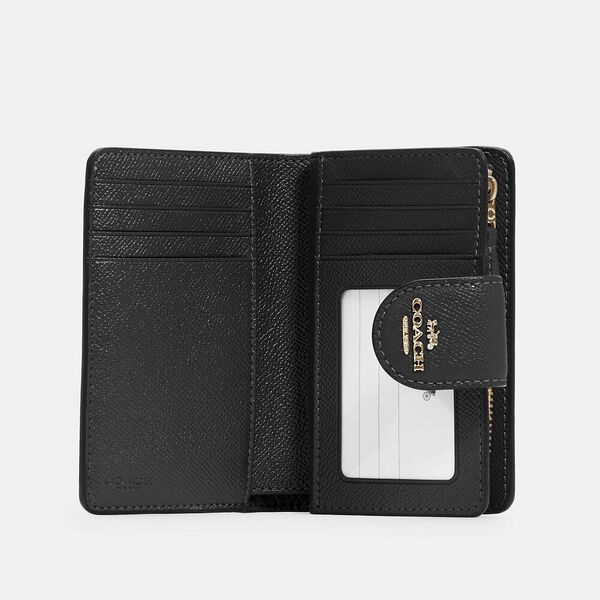 Medium Corner Zip Wallet, IM/BLACK, hi-res
