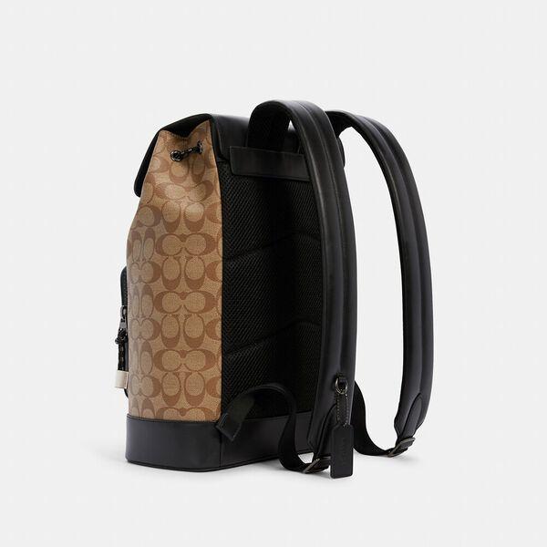 Turner Backpack In Blocked Signature Canvas, QB/KHAKI MULTI, hi-res