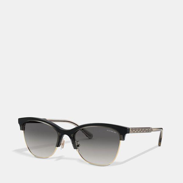 Signature Retro Sunglasses, BROWN, hi-res