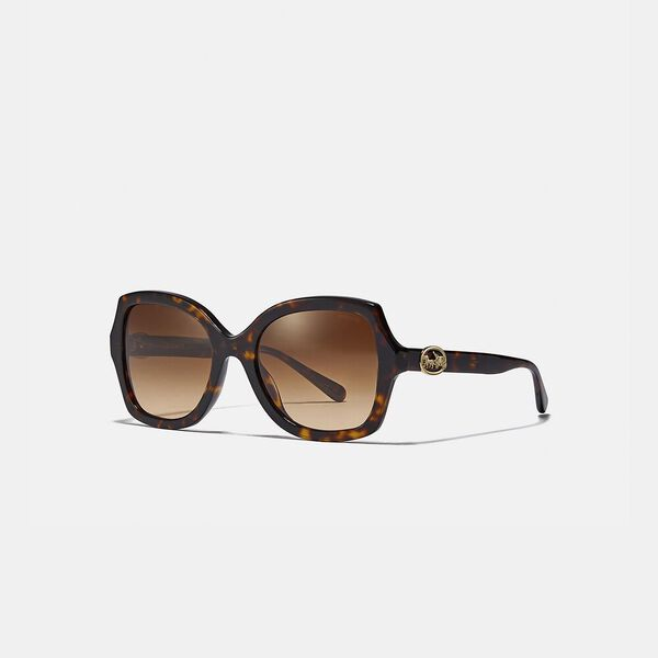 Horse And Carriage Geometric Sunglasses, DARK TORTOISE, hi-res