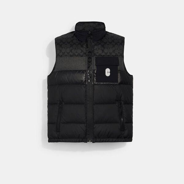 Down Vest, BLACK / BLACK SIGNATURE, hi-res