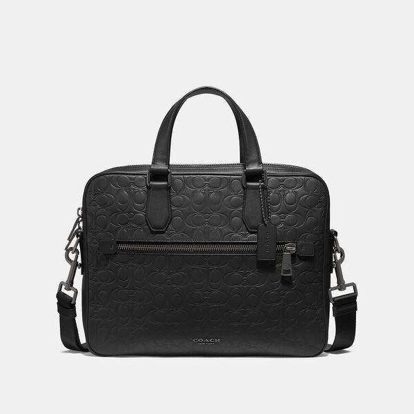 Refined Business Brief In Signature Leather