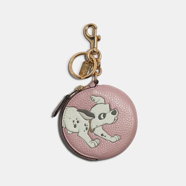 Coach Disney X Coach Circular Coin Pouch Bag Charm, IM/BLOSSOM MULTI, hi-res