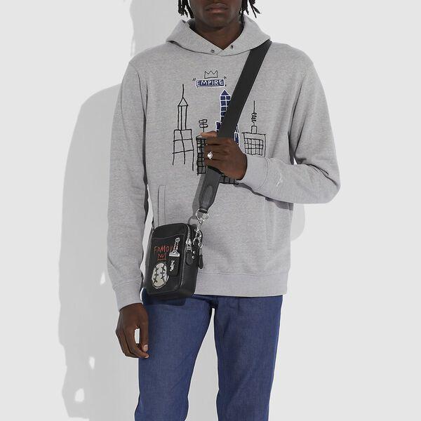 Coach X Jean-Michel Basquiat Rogue Crossbody 12 In Baseball, 0I/BLACK, hi-res