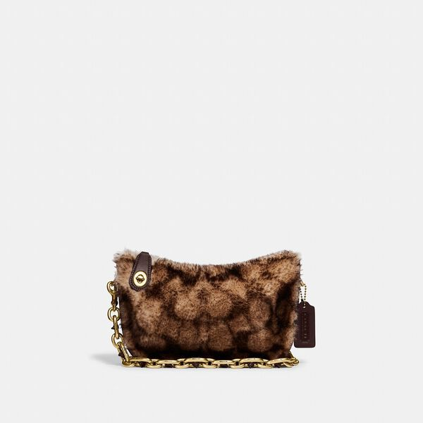 Swinger Bag With Chain In Signature Shearling
