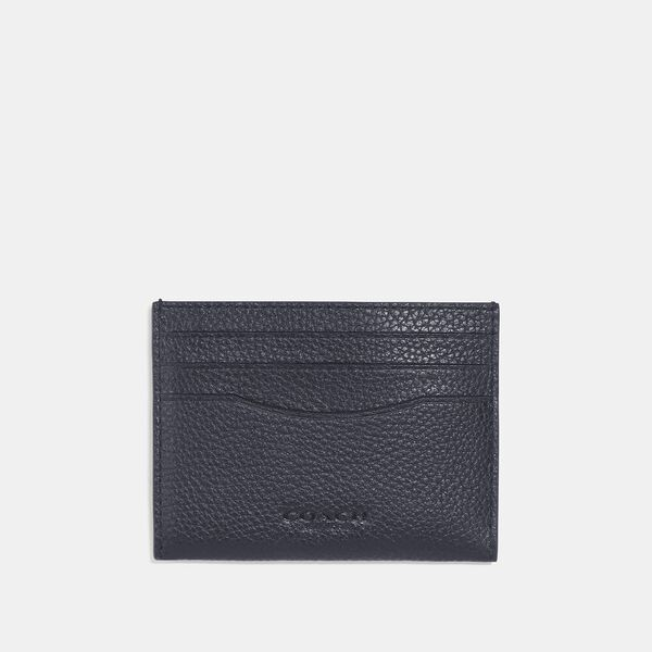 Card Case With Signature Canvas Interior, MIDNIGHT/CHARCOAL, hi-res