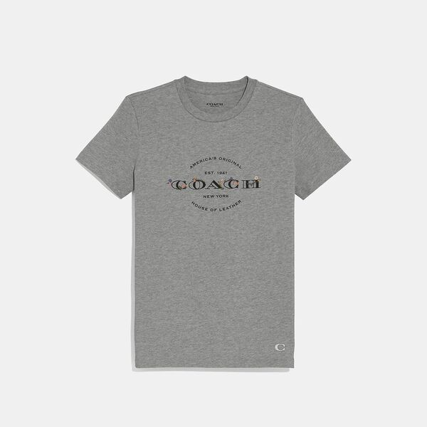 Coach T-Shirt, GREY, hi-res