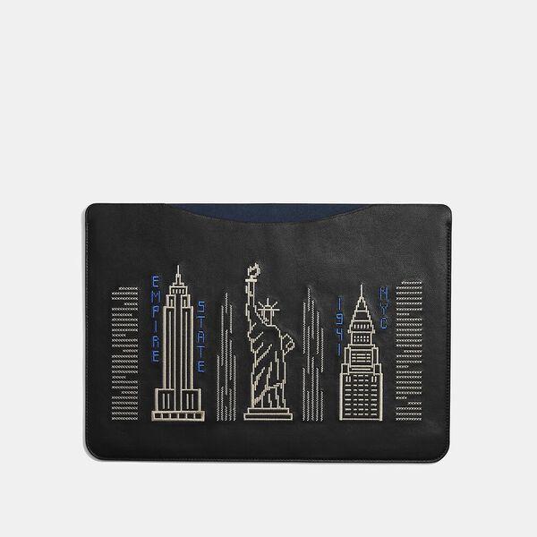 Laptop Sleeve With Stardust City Skyline