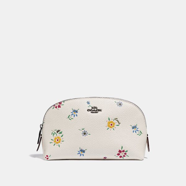 Cosmetic Case 17 With Wildflower Print, V5/CHALK, hi-res