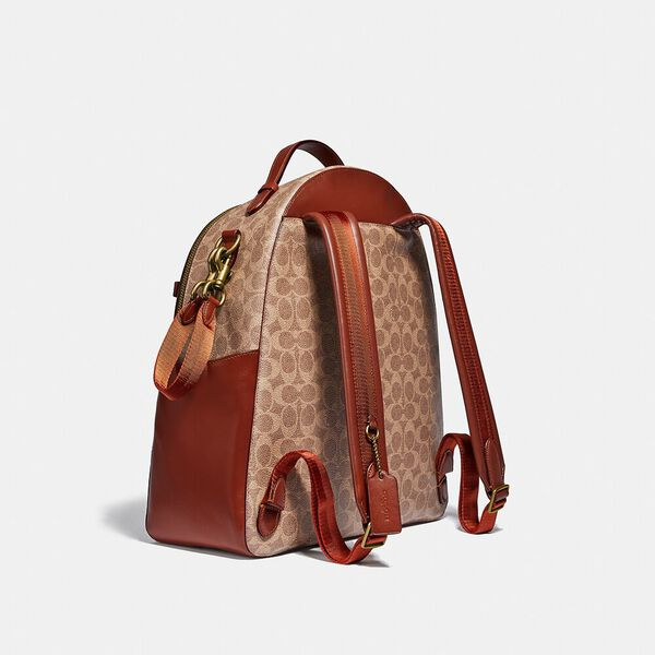 Baby Backpack In Signature Canvas, B4/TAN RUST, hi-res