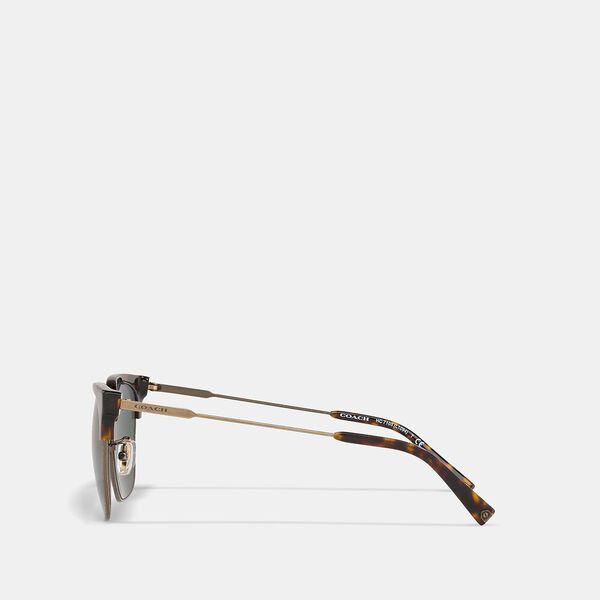Retro Frame Sunglasses, GREEN, hi-res