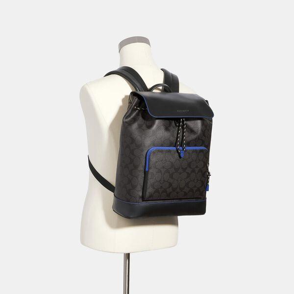 Turner Backpack In Signature Canvas, QB/BLACK SPORT BLUE, hi-res
