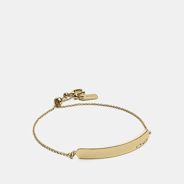 Coach Bar Slider Bracelet, GOLD, hi-res