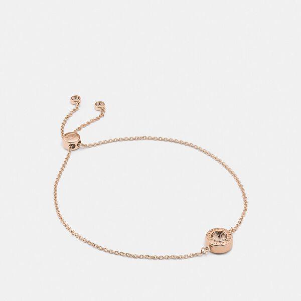 Open Circle Slider Bracelet, ROSEGOLD, hi-res