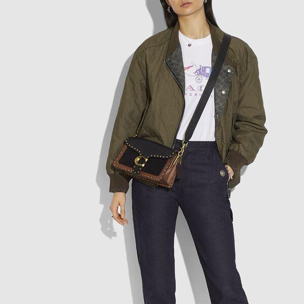 Tabby Shoulder Bag 26 With Rivets, B4/BLACK MULTI, hi-res