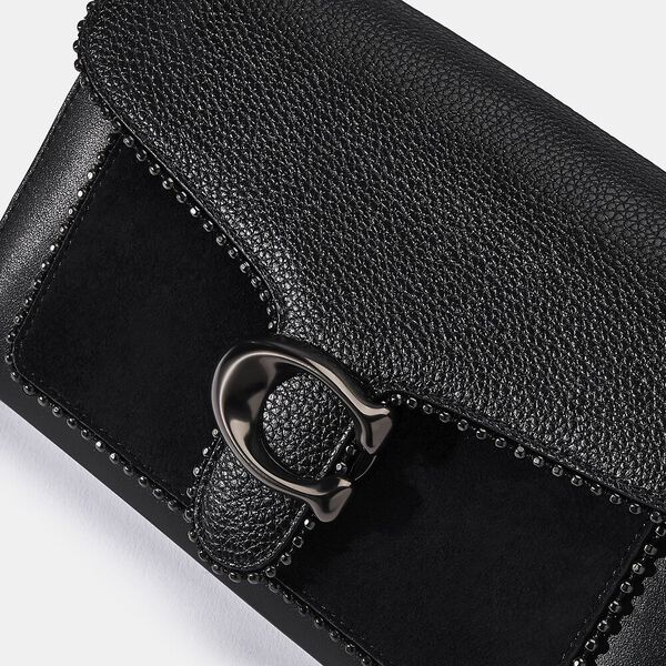 Tabby Chain Clutch With Beadchain, V5/BLACK, hi-res