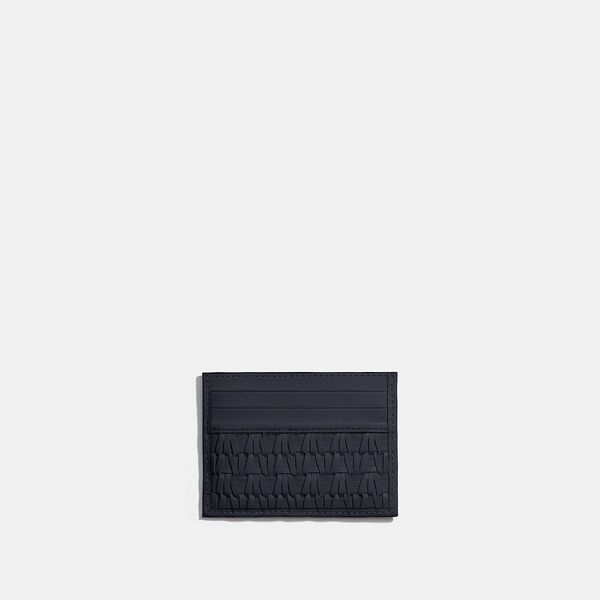 Card Case With Weaving, MIDNIGHT NAVY, hi-res