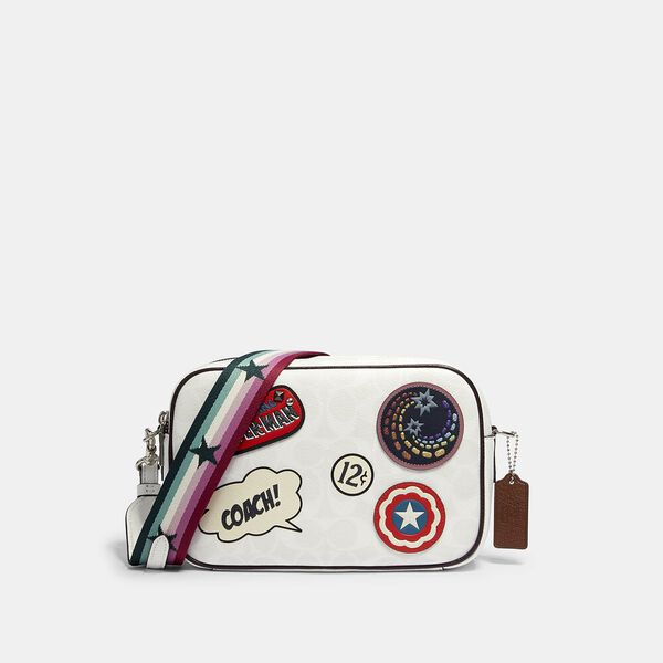 Coach x Marvel Jes Crossbody In Signature Canvas With Patches, SV/CHALK MULTI, hi-res