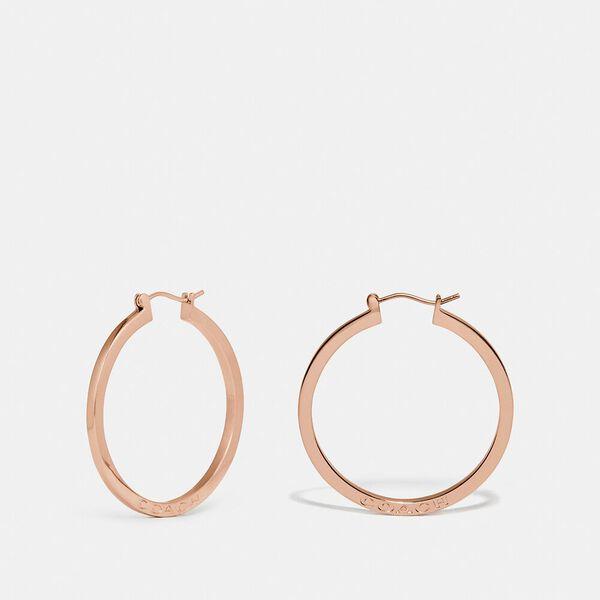 Hoop Earrings, ROSEGOLD, hi-res