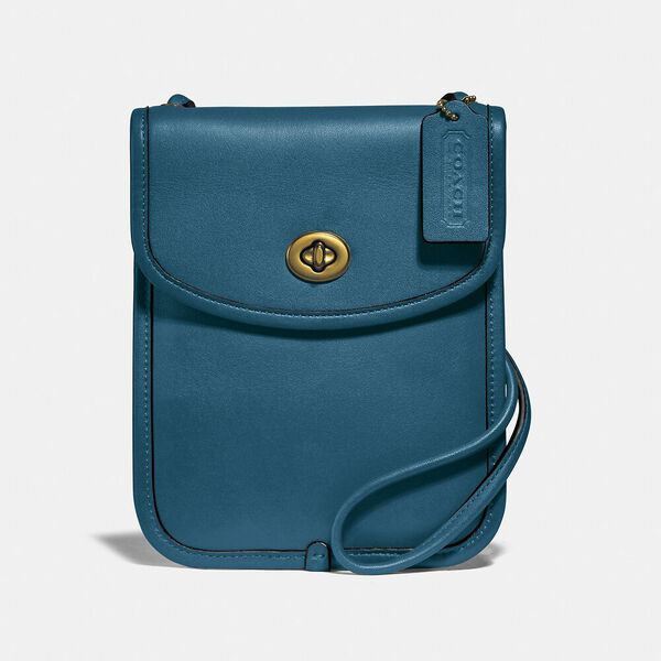 Turnlock Flat Crossbody, MINERAL, hi-res