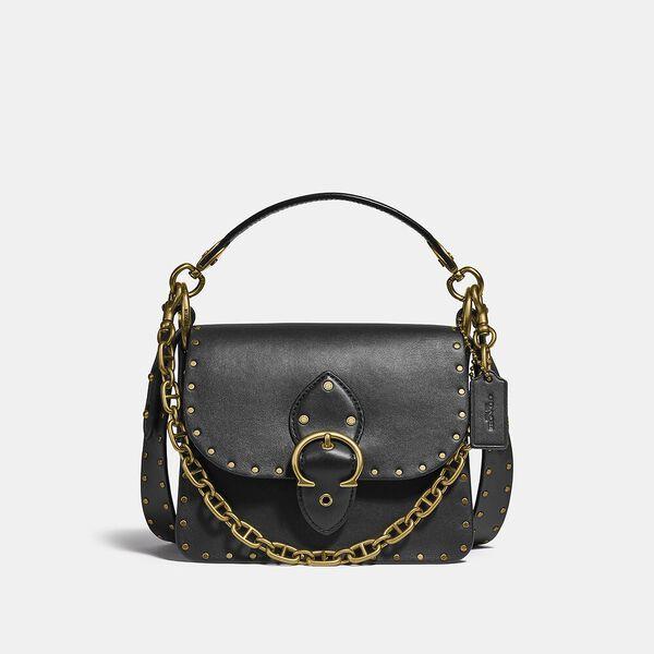 Beat Shoulder Bag 18 With Rivets, B4/BLACK, hi-res