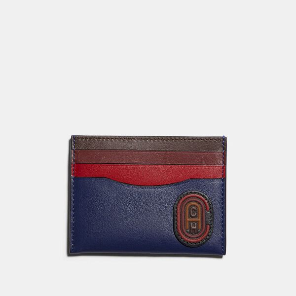 Card Case In Colorblock With Coach Patch, TRUE NAVY MULTI, hi-res