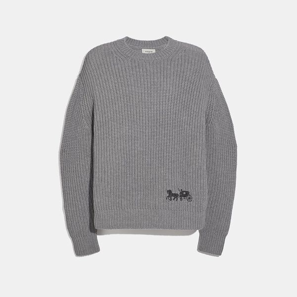 Horse And Carriage Sweater, GREY, hi-res