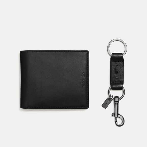 Boxed 3-In-1 Wallet Gift Set, BLACK, hi-res