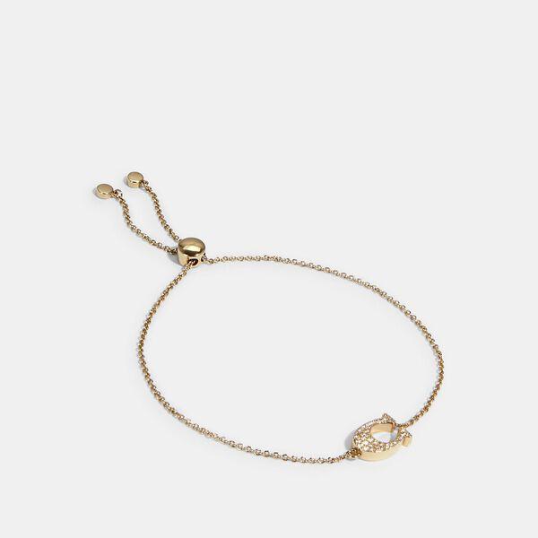 Pave Signature Slider Bracelet, GOLD, hi-res