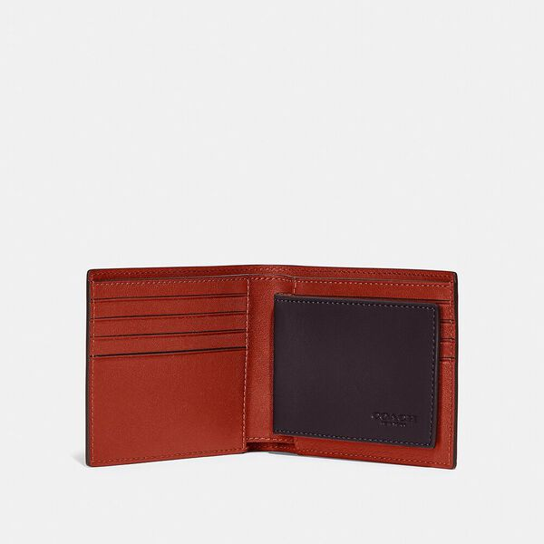 3-In-1 Wallet In Colorblock, OXBLOOD/RED SAND, hi-res