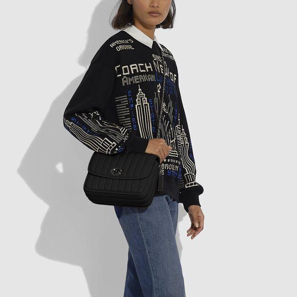 Madison Shoulder Bag With Quilting, V5/BLACK, hi-res