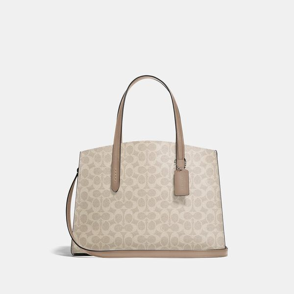 Charlie Carryall In Signature Canvas, LH/SAND TAUPE, hi-res