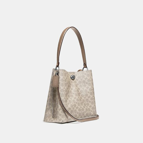 Charlie Bucket Bag In Signature Canvas, LH/SAND TAUPE, hi-res