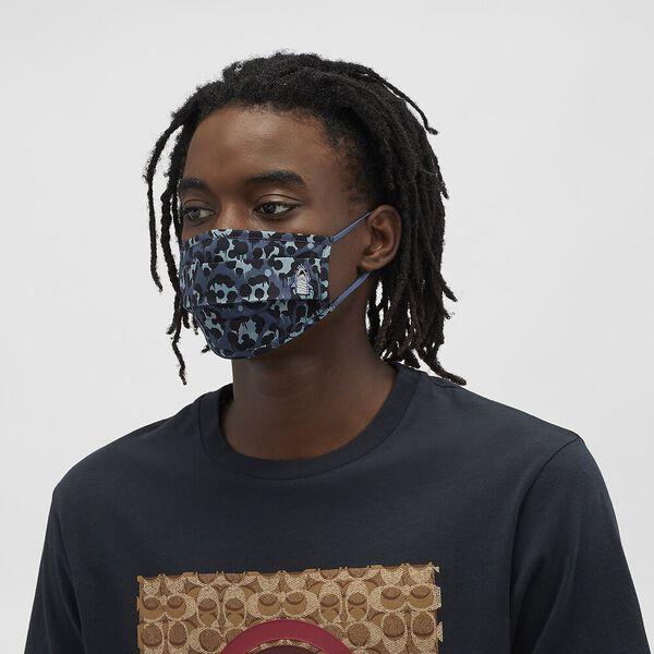 Sharky Face Mask With Wild Beast Print, DENIM, hi-res