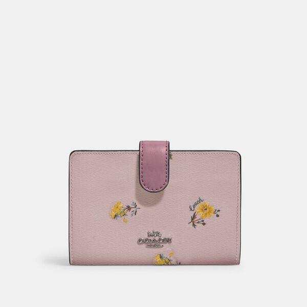 Medium Corner Zip Wallet With Dandelion Floral Print