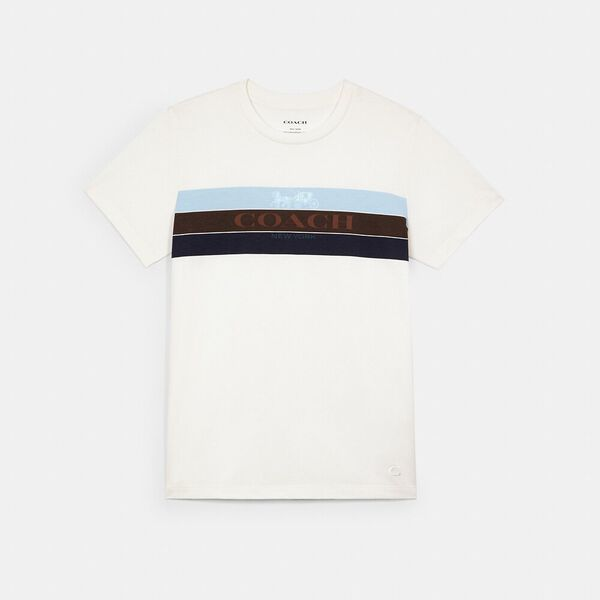 Racing Stripe Horse And Carriage T-Shirt, WHITE, hi-res