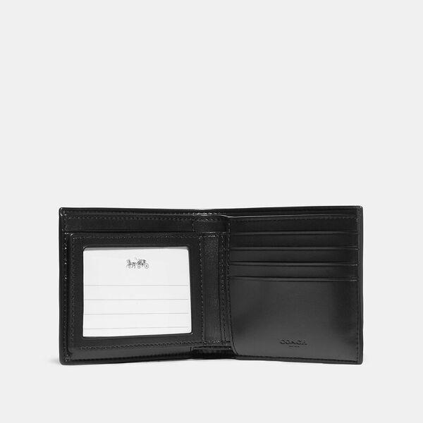 3-In-1 Wallet In Signature Canvas With Camo Print, QB/GREY MULTI, hi-res