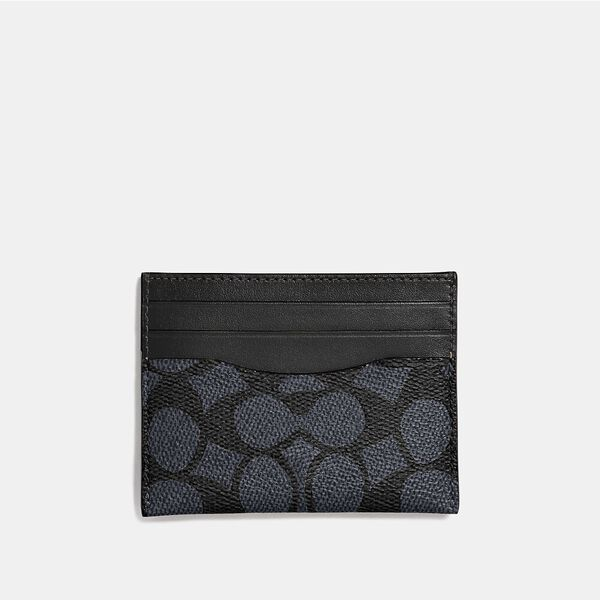 Card Case In Signature Canvas, MIDNIGHT, hi-res