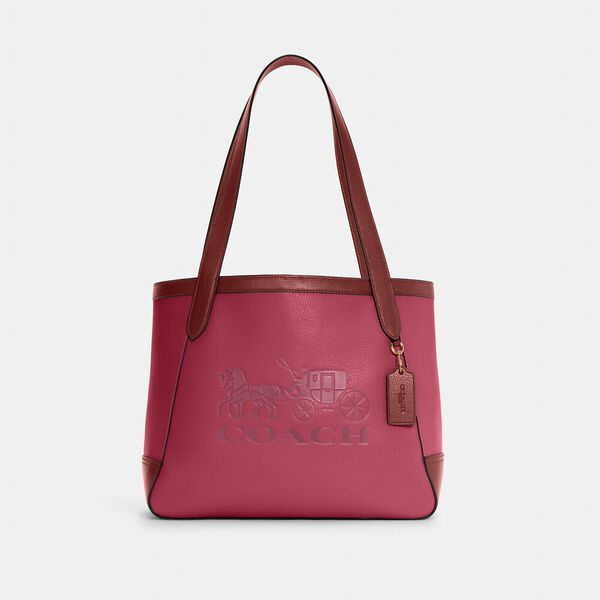 Tote In Colorblock With Horse And Carriage