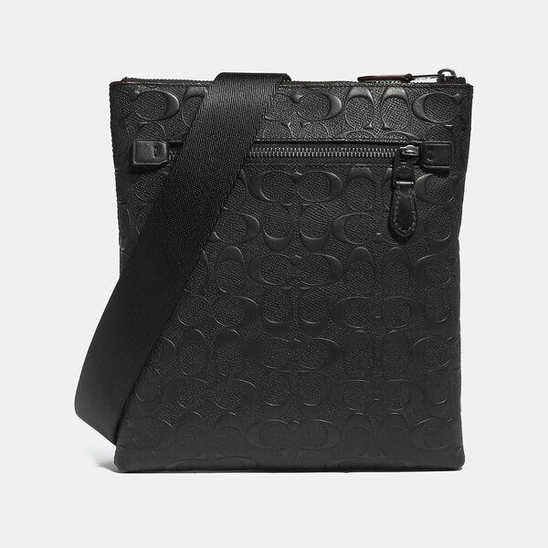 Metropolitan Slim Messenger In Signature Leather, QB/BLACK, hi-res
